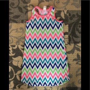 Other - Girls size 10/12 chevron print racer back gown